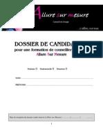 Dossier de Candidature Formation