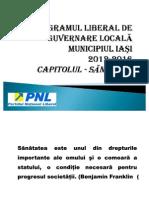 Programul Liberal de Guvernare Locala Domeniul Sanatate 2012-2016