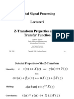 Acr-dsp-lect-9 Z Transform Properties and Transfer Function
