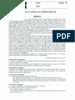 Examen de Selectividad de Lengua Castellana y Literatura. Junio 2011.