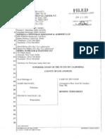 McCourt Divorce Settlement