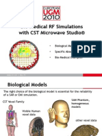 Bio-Medical RF Simulations With CST MICROWAVE STUDIO