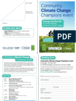 Community Climate Change Champions Event 14 May 2011