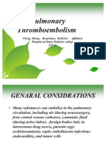 13664779 Pulmonary Thromboembolism
