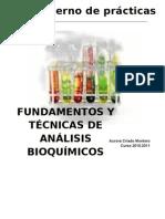 Cuaderno de prácticas de Técnicas Bioquímicas
