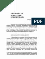 três modelos normativos de democracia