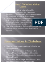 Acquisition of Mining Claims in Zimbabwe