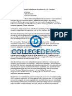 2011 CDA Elections Candidate Statements