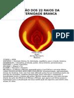 RELAÇÃO DOS 22 RAIOS DA FRATERNIDADE BRANCA