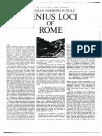 Genius Loci of Rome_chrisian Norberg-schulz