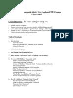 Childhood Traumatic Grief Curriculum CEU Course
