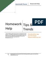 Homework Help eBook