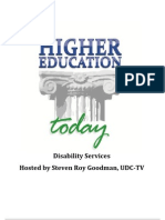 Higher Education Today - Disability Services