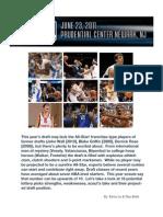 NBA DRAFT 2011 SCOUTING REPORT