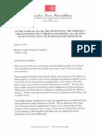 """Letter to Muammar Gadhafi"", Minister Louis Farrakhan"