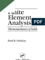 Finite Element Aanalysis - David W. Nicholson