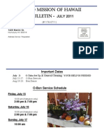 Jodo Mission Monthly Bulletin - June 2011
