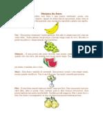 dinâmica das frutas