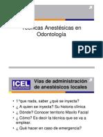 Anestesias - Téc. Anestésicas