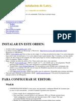 Mini Manual de Instalacion Latex