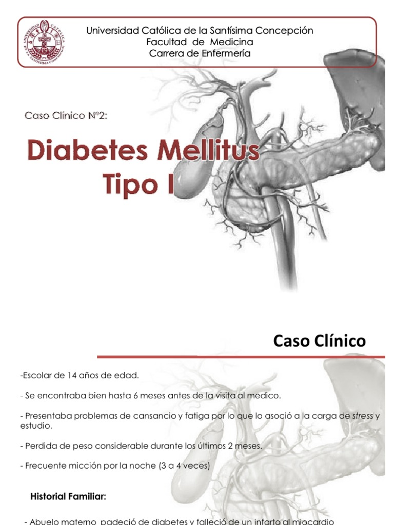 estudio de caso de presentación de diabetes mellitus ppt