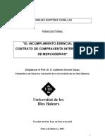 El incumplimiento esencial del contrato de compraventa internacional de mercaderías