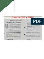 Carta de Cecilia Grados a MTPE