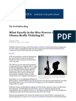 What Exactly Is the War Powers Act and Is Obama Really Violating It?
