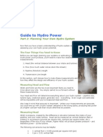 Guide to Hydro Power( Hydro Planing)