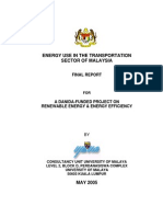 Energy Use in the Transportation Sector of Malaysia