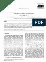 A Model of Cochlear Micro Mechanics