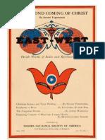 Yogananda - EastWes tMay1932