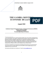 Gambia Monthly Economic Bulletin August 2010