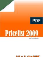 Pricelist 1110