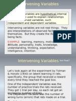 Intervenning Variable