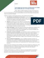 ACCES-INFO analiza brevemente el anteproyecto de ley de acceso a la información