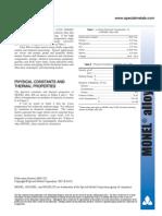 Monel Data Sheet
