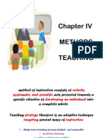 IV- Methods of Teaching