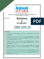 Solution for Iit Jee 2011 Paper II