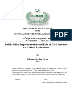 Public Policy by Aslam Tareen[1]