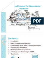Membrane Processes for Waste Water Treatment