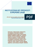 Institucionalne vrednosti EU
