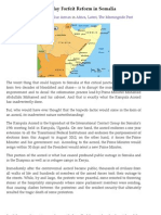Political Expediency May Forfeit Reform in Somalia