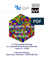 17th International Workshop on Computational Mechanics of Materials August 2007 - IWCMM17-Paris BOOK of ABSTRACTS
