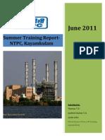 NTPC Kayamkulam Training Report