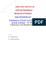 Explanation of Kashf Ash Shubuhat in Q & A format -  by Shaykh Uthaymeen and Shaykh Fawzaan