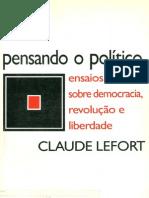LAEFORT, Claude Pensando o Politico