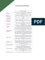 ECE Formulas and Equations