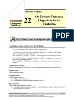 PEN 22 - Os Crimes Contra a Organização do Trabalho