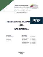 Procesos de Tratamiento Del Gas Natural